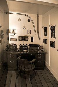 Titanic's Marconi room sepia.jpg