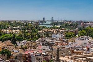Toits Guadalquivir ponts Séville Espagne