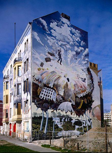 Fassadengestaltung Mit Graffiti Fassadenmalerei 13