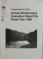 Tongass National Forest - annual monitoring and evaluation report for fiscal year 1999 (IA CAT31285103).pdf