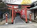 Torii of Inari Shrine, Ebisu Shrine and Sarutahiko Shrine in Watatsumi Shrine.jpg