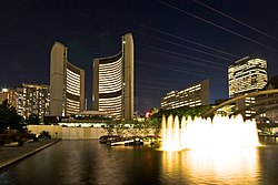 Toronto City Hall night view