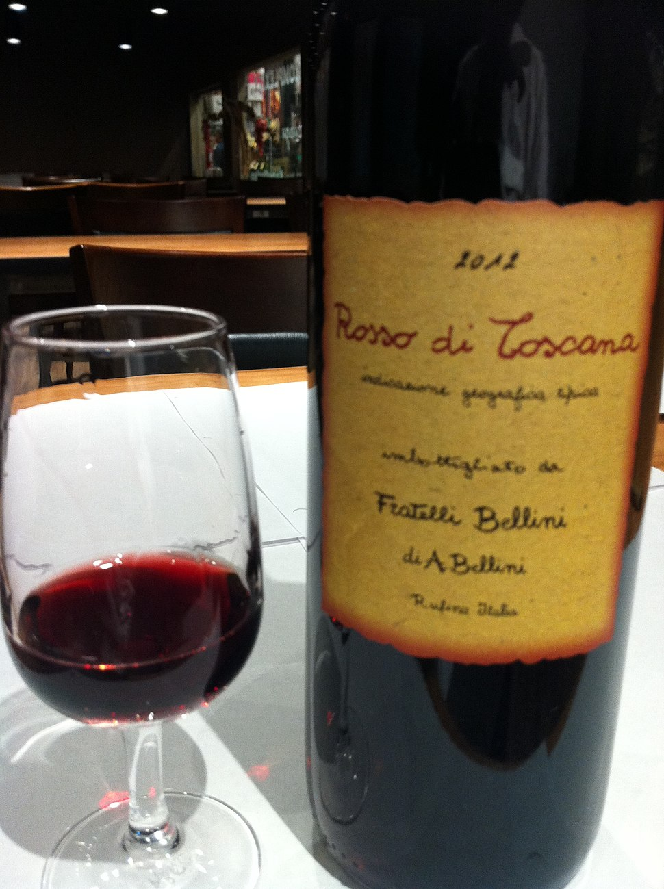Toscana igt wine