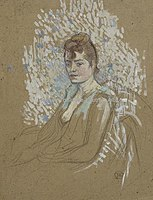 Toulouse-Lautrec - FEMME ASSISE, 1893, MTL.157.jpg