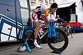 Tour de Romandie 2013 - Stage 5 - Team Lotto-Belisol's rider warming up.jpg