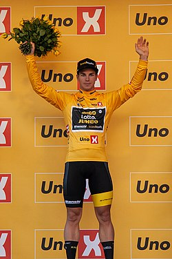 Tour of Norway 2018 - Stage 1 - yellow jersey - Dylan Groenewegen.jpg