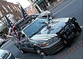 Toyota Camry art car Main Street downtown Hanover NH September 2015 front.jpg