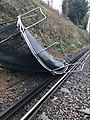 Trampoline lands on the railway line during heavy winds.jpg