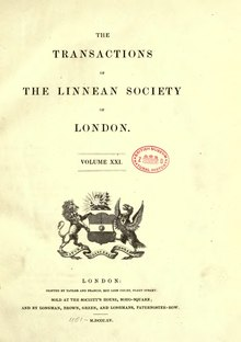 Transactions of the Linnean Society of London, Volume 21.djvu