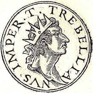 Augustan History - Trebellianus, one of the fictitious tyrants included in the Historia Augusta, drawn by Guillaume Rouillé in  Promptuarii Iconum Insigniorum- 1553