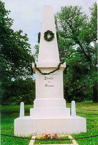 Nueces massacre - Image: Treue der Union monument, Comfort TX