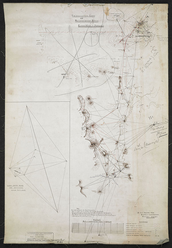 600px triangulation chart and reconnaissance survey. e uaso ngiro   marsabit. %28woos 7 1 1%29