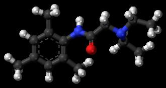 Trimecaine - Image: Trimecaine 3D balls