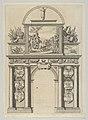 Triumphal arch, from 'Éloges et discours sur la triomphante réception du Roy en sa ville de Paris ...' by Jean-Baptiste de Machault MET DP855534.jpg