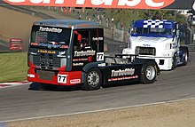 Stuart Oliver's Racing truck at Brands Hatch, 2006.