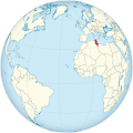 Tunisia on the globe (Cape Verde centered).svg