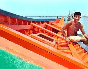 Native fisherman of the Daisy Island, Venezuela