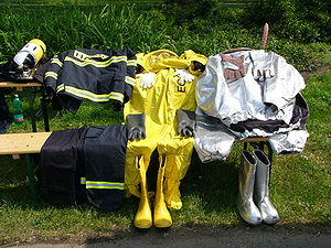 Bunker gear - Image: Turnout gear in the Czech Republic