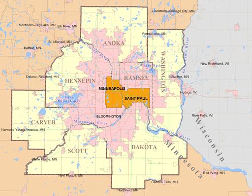 Twin Cities 7 Metro map