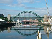 The Tyne Bridge across the River Tyne between ...