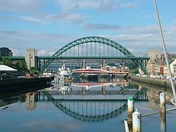 Skyline ya Newcastle upon Tyne