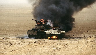Battle of 73 Easting - Destroyed Iraqi Type 69 tank