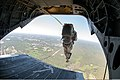 U.S. Army 1st Lt. Andrew McCornack, a jumpmaster with the 1st Brigade Combat Team, 82nd Airborne Division, exits a CH-47 Chinook helicopter at Fort Bragg, N.C., May 15, 2013, during exercise Yudh Abhyas 2013 130515-A-DK678-019.jpg