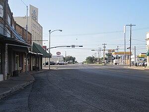 Eden, Texas - Intersection of U.S. Highways 83 and 87 in Eden