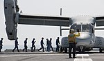 U.S. Marine Corps MV-22B Osprey aircraft work with Japan to deliver earthquake relief supplies. (26268629440).jpg