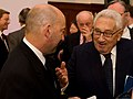 U.S. Navy Adm. James G. Stavridis, left, Supreme Allied Commander, Europe Commander, United States European Command; speaks with Henry A. Kissinger, chairman of Kissinger Associates, Inc 091108-A-RT555-112.jpg