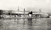 The German submarine U-9, which sank three British cruisers in a few minutes in September 1914