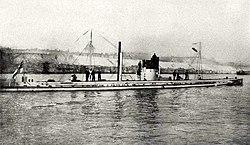 Le sous-marin allemand U9 (1910). Il coule trois croiseurs britanniques en quelques minutes en septembre 1914.