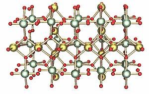 Uranium trioxide - Image: UO3 gamma lattice
