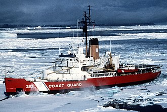 USCGC Northwind (WAGB-282) - Image: USCGC NORTHWIND 10 Jul 1986 DK US musk ox operation