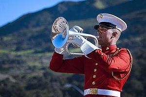Mellophone -  A U.S. Marine Drum & Bugle Corps mellophone player