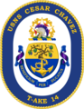 USNS Cesar Chaves T-AKE-14 Crest.png