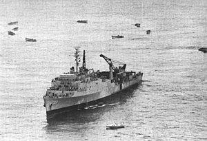 USS Alamo (LSD-33) off Vietnam in July 1966