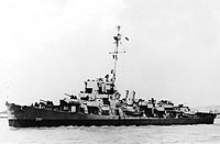 USS Dionne (DE-261) underway off the Mare Island Naval Shipyard on 21 May 1945 (NH 83294).jpg