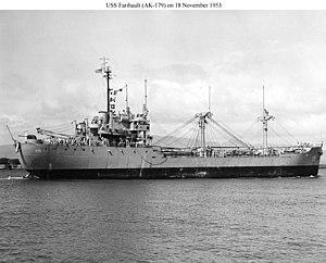 USS Faribault (AK-179) - Image: USS Faribault (AK 179)