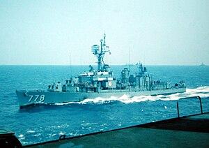 USS Massey (DD-778) in Med 1971