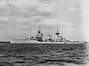 USS Porter (DD-356) off Yorktown, Virginia (USA), on 19 April 1939 (NH 66338).jpg