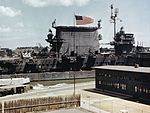 USS Saratoga (CV-3) at Pearl Harbor 1945.jpg