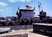 USS Saratoga (CV-3) at Pearl Harbor 1945