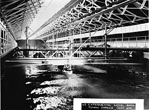 Ship model basin - US Experimental Model Basin, circa 1900