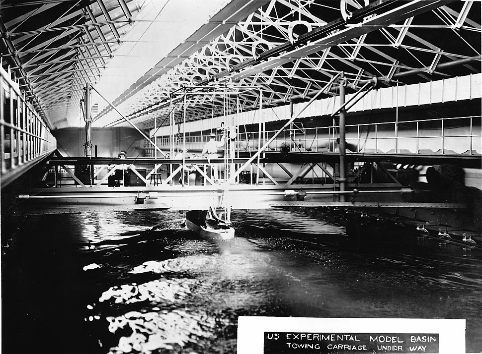 US Experimental Model Basin - interior view, c. 1900