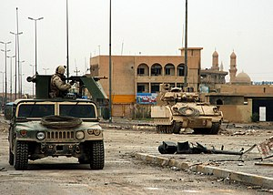Abu Musab al-Zarqawi - U.S. soldiers in Fallujah, November 2004. Al-Zarqawi's network was the main target.