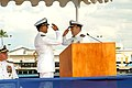US Navy 050923-N-1027J-027 Capt. Joseph Tofalo returns a hand salute rendered to him by Capt. L. David Marquet as Tofalo assumes his new duty.jpg