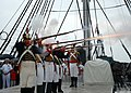 US Navy 080815-N-9793B-002 The 1812 Marines demonstrate a musket firing exercise during the USS Constitution vs. HMS Guerriere Battle Commemoration.jpg