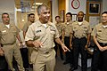 US Navy 081009-N-9818V-031 Master Chief Petty Officer of the Navy (MCPON) Joe R. Campa Jr. speaks with Navy Recruiters.jpg