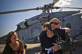 US Navy 090728-N-8590G-001 Aviation Warfare Technician 1st Class David Brandon greets his daughter during a homecoming celebration for the Nightdippers of Helicopter Anti-Submarine Squadron (HS) 5.jpg